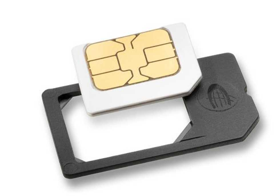 Sätt ej in tomma SIM-korts-adaptrar