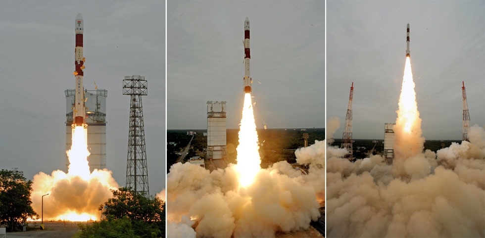 Indien sköt upp sin 100:e raket till rymden