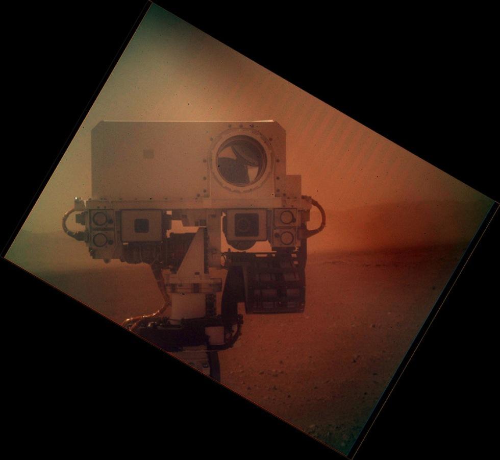 Curiosity har tagit en selfie