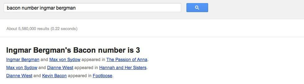 Google räknar ut kändisars relation till Kevin Bacon