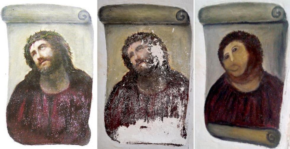 Gumman som sabbade Ecce Homo kräver royalty