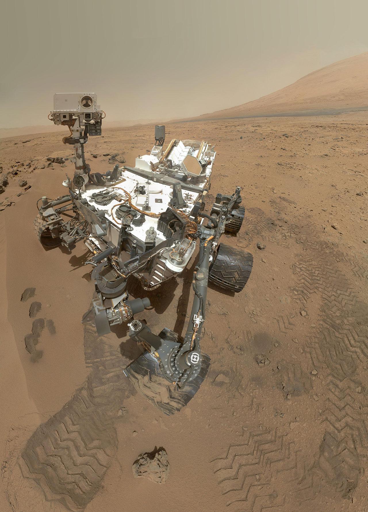 Curiosity har tagit en ny selfie