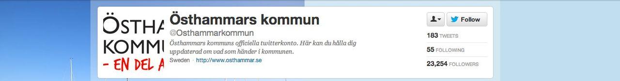 Kändisar köpte 35 000 twitter-följare till Östhammars kommun