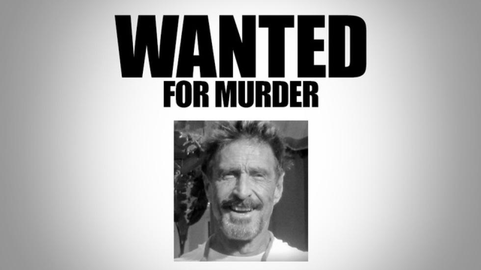 Antivirusföretaget McAfees grundare efterlyst för mord