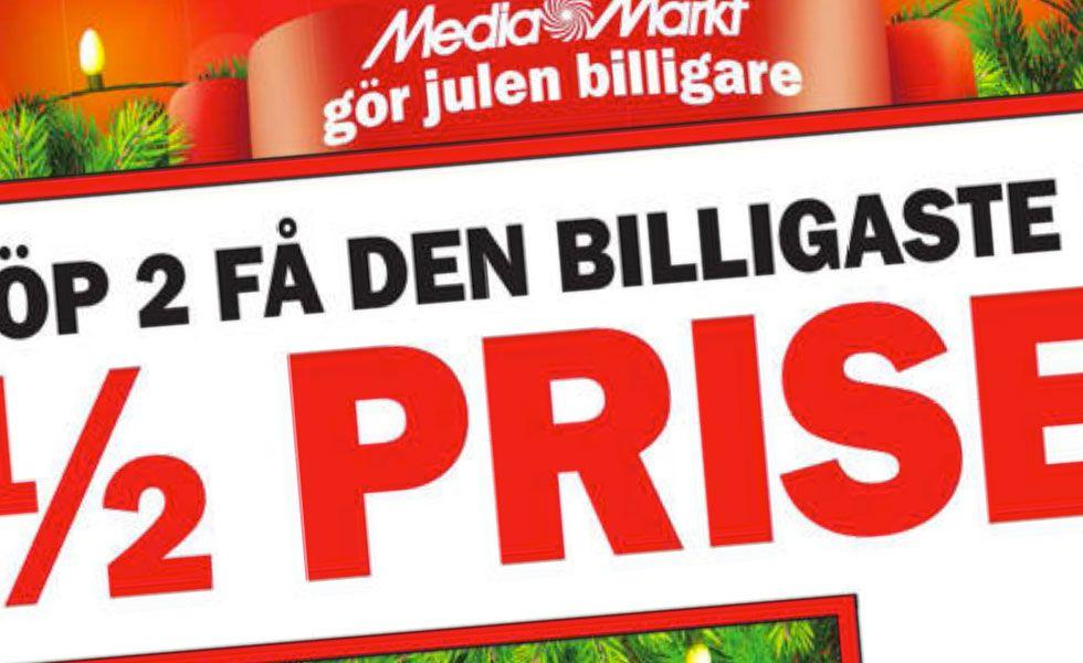 Mediamarkt kampanjar i helgen