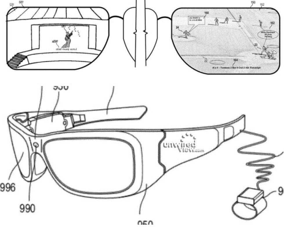 Microsoft tar också fram AR-glasögon  Patentansökan tyder på det ... b83ccd4e68d6f