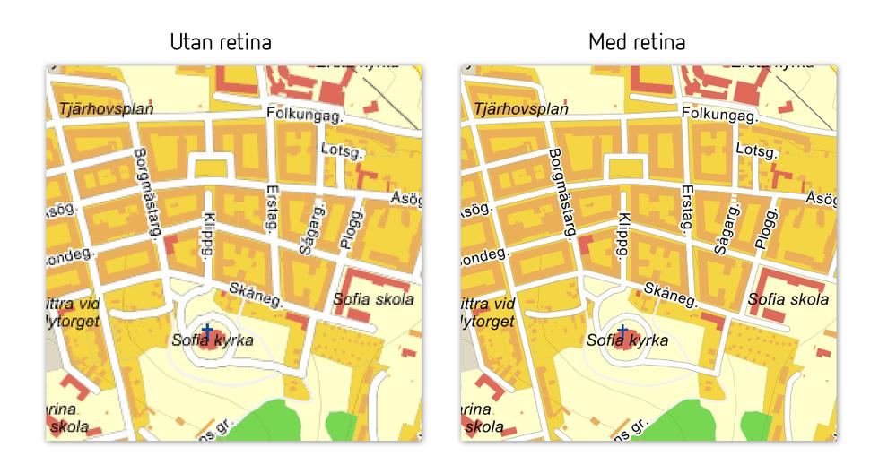 Nu är Eniros karttjänster retina-ready