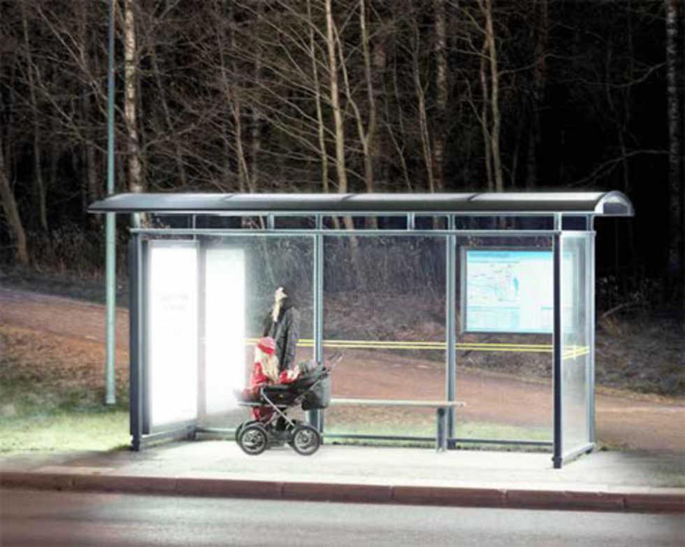 Umeå-bor får ljusterapi vid busshållsplatser