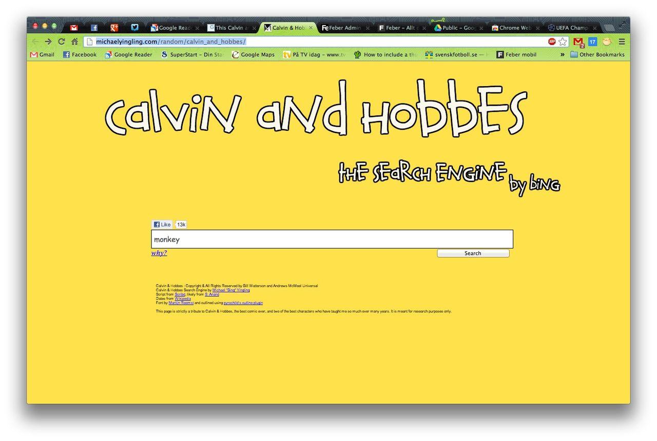 Kalle och Hobbe-sökmotor