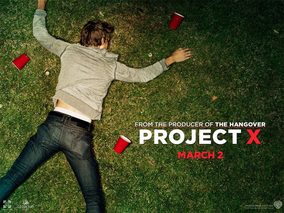 Project X mest nedladdade filmen 2012