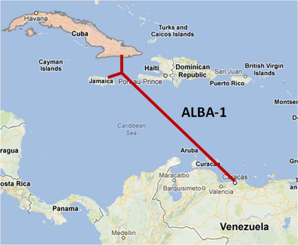 Kuba aktiverar internetlina i havet