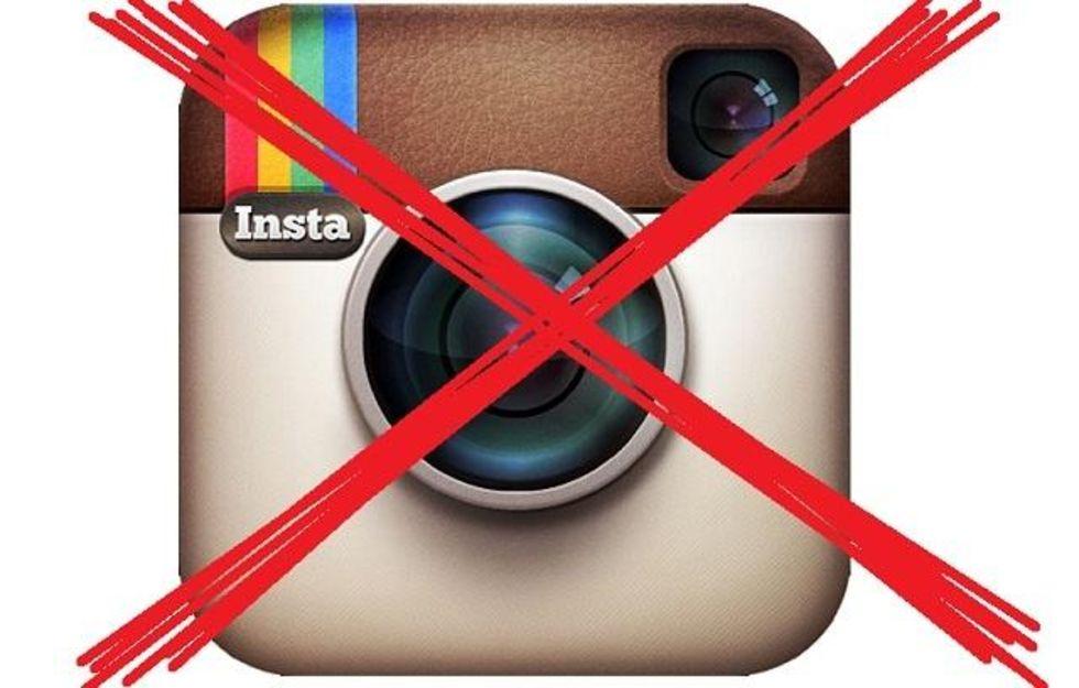 Barn slängs ut från Instagram