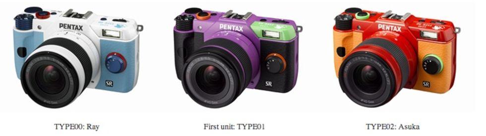 Evangelion-kameror från Pentax