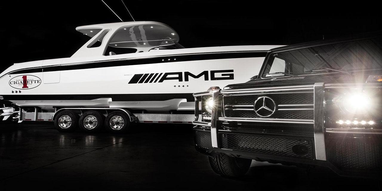 Huntress - båt inspirerad av Mercedes G63 AMG