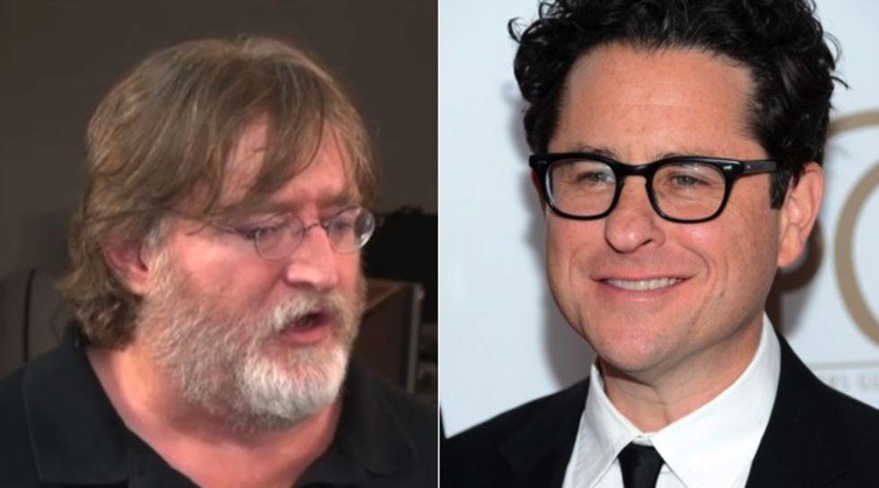 J. J. Abrams och Gabe Newell snackar