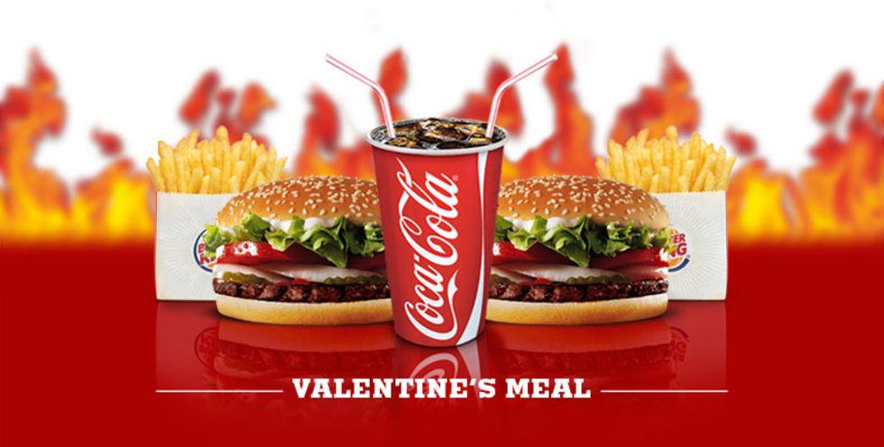 Ät med kärleken på Burger King