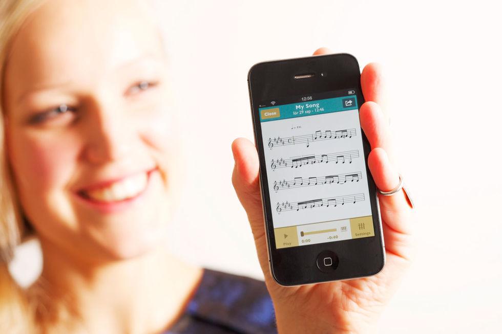 ScoreCleaner Notes - iOS-app gör noter av det du sjunger