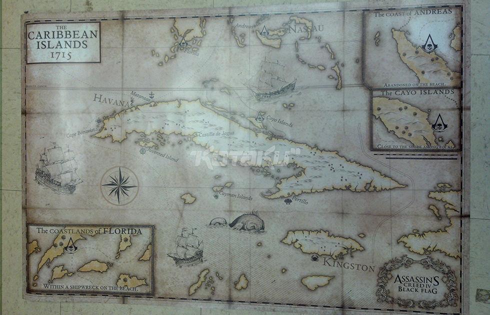 Karta Den Stora Algvandringen.Mer Info Om Assassin S Creed Postern Baksidan Ar En Karta Feber