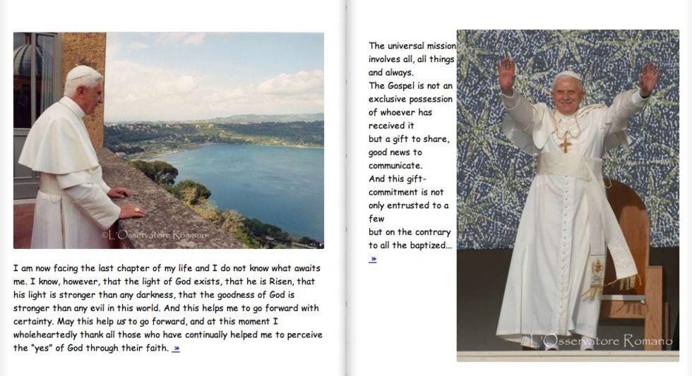 Vatikanen hyllar påven med Comic Sans