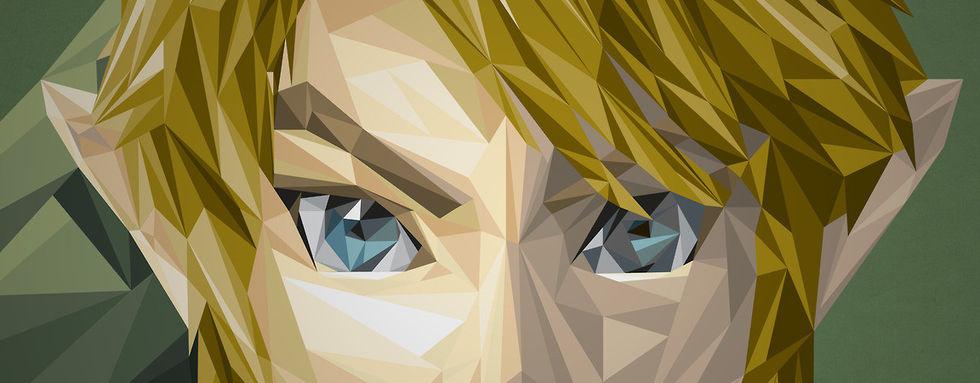 Snygga spelporträtt skapade med trianglar