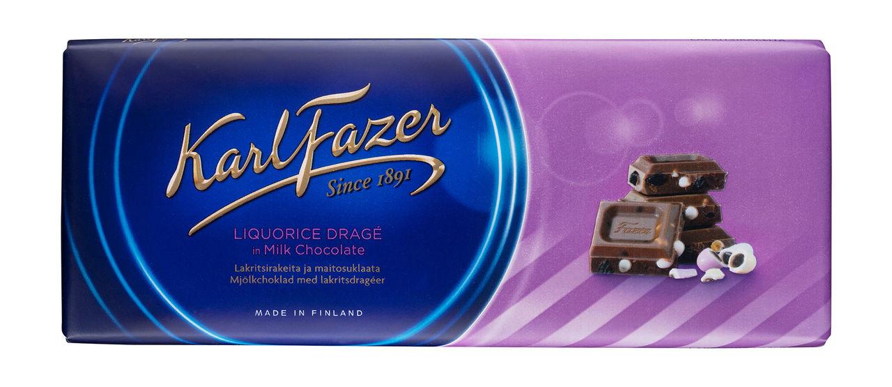 Mjölkchoklad och lakrits från Fazer