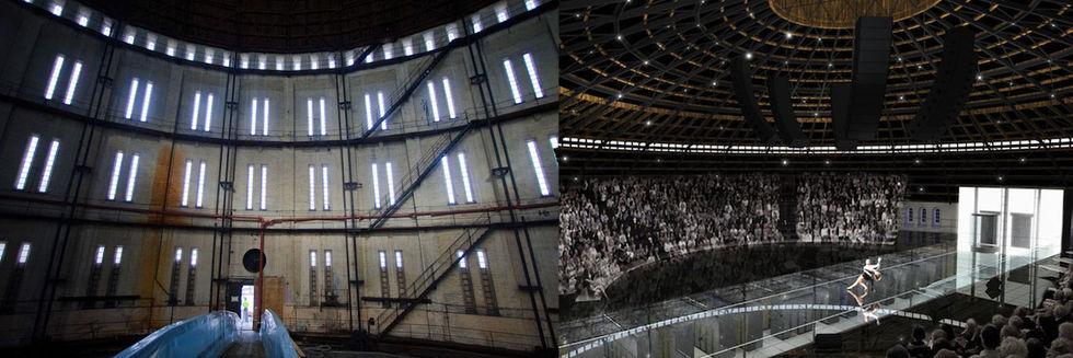 Serverhall med opera ovanpå