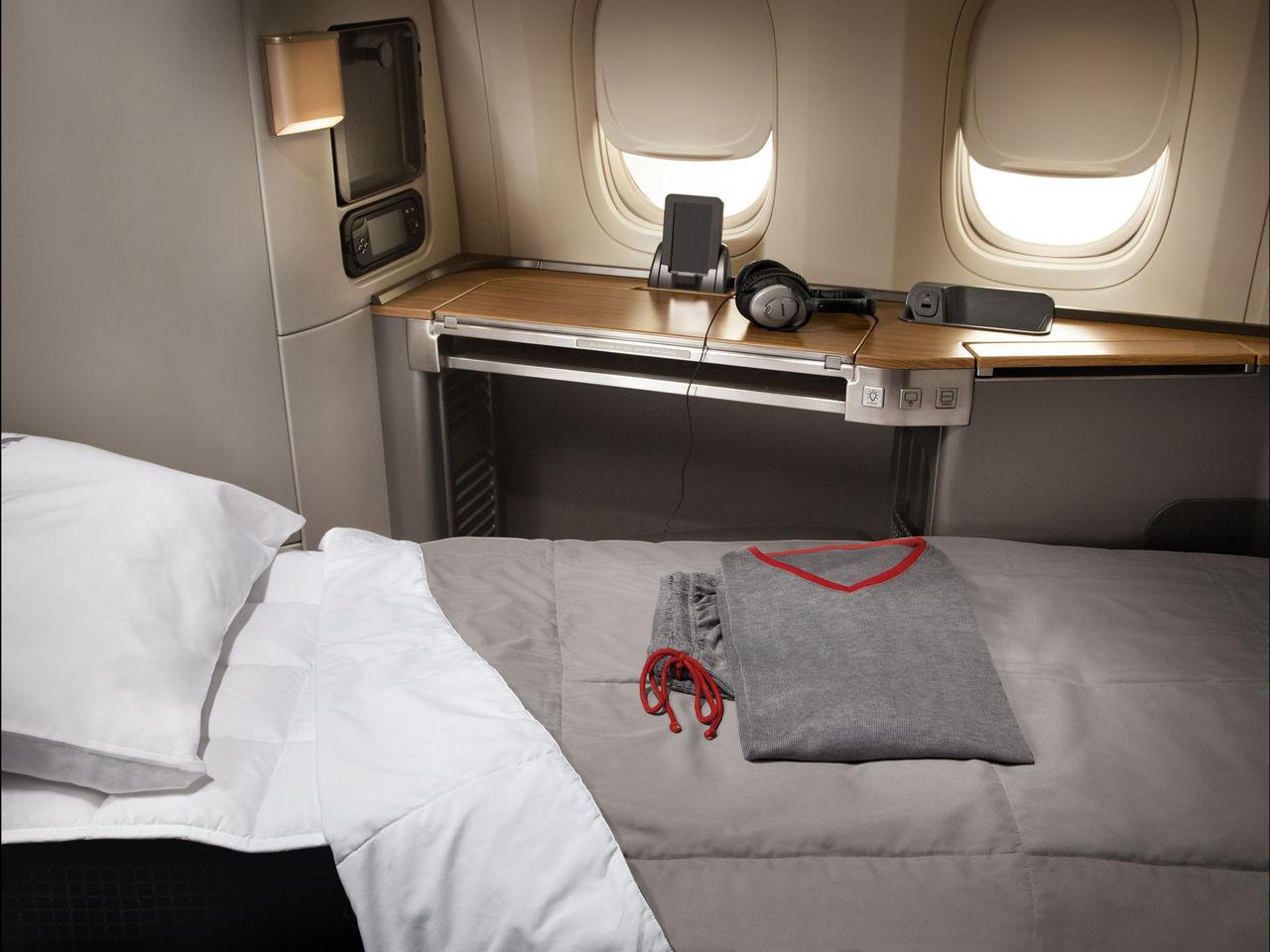 En titt på den lyxiga insidan i Boeing 777