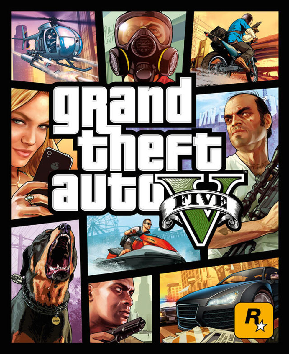 Omslaget för Grand Theft Auto V