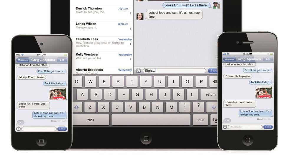 Apple stäms för iMessage
