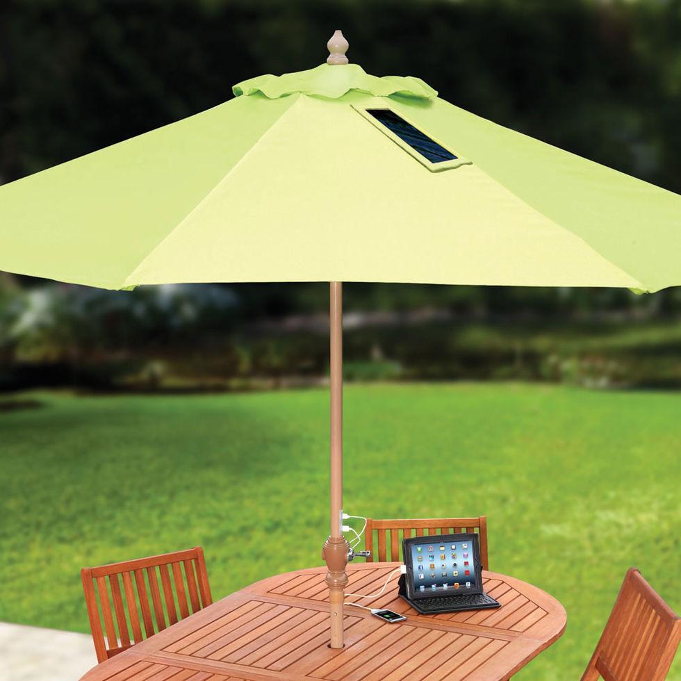Låt parasollet ge dig ström
