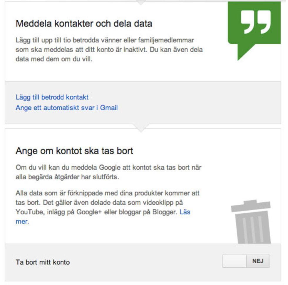 Google startar tjänst för att hantera ditt konto när du har dött