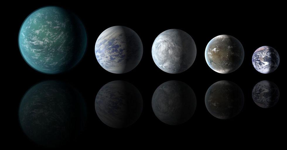 Kepler-teleskopet hittar tre jordliknande planeter