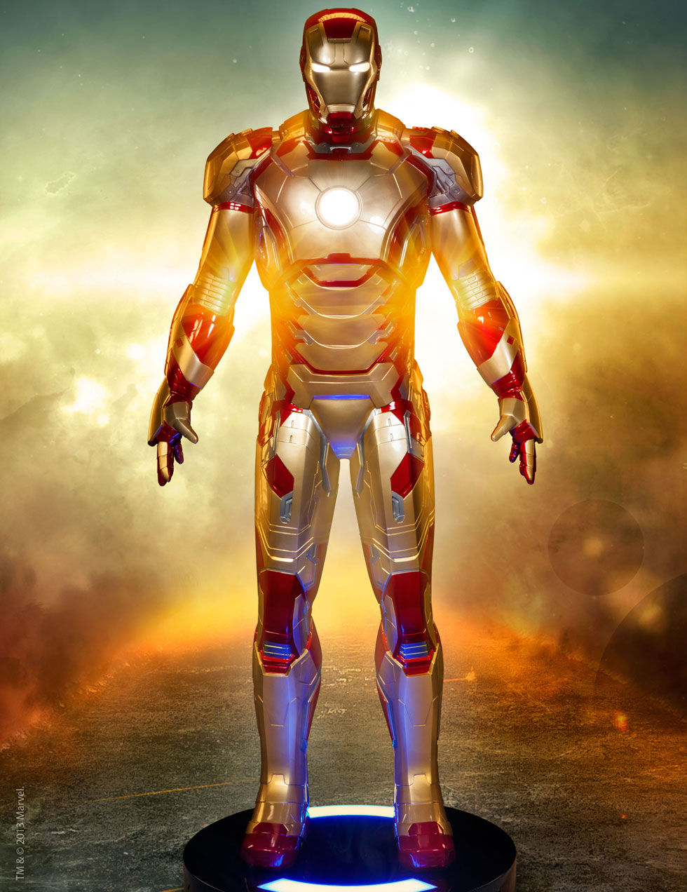 Ironman-figur i naturlig storlek
