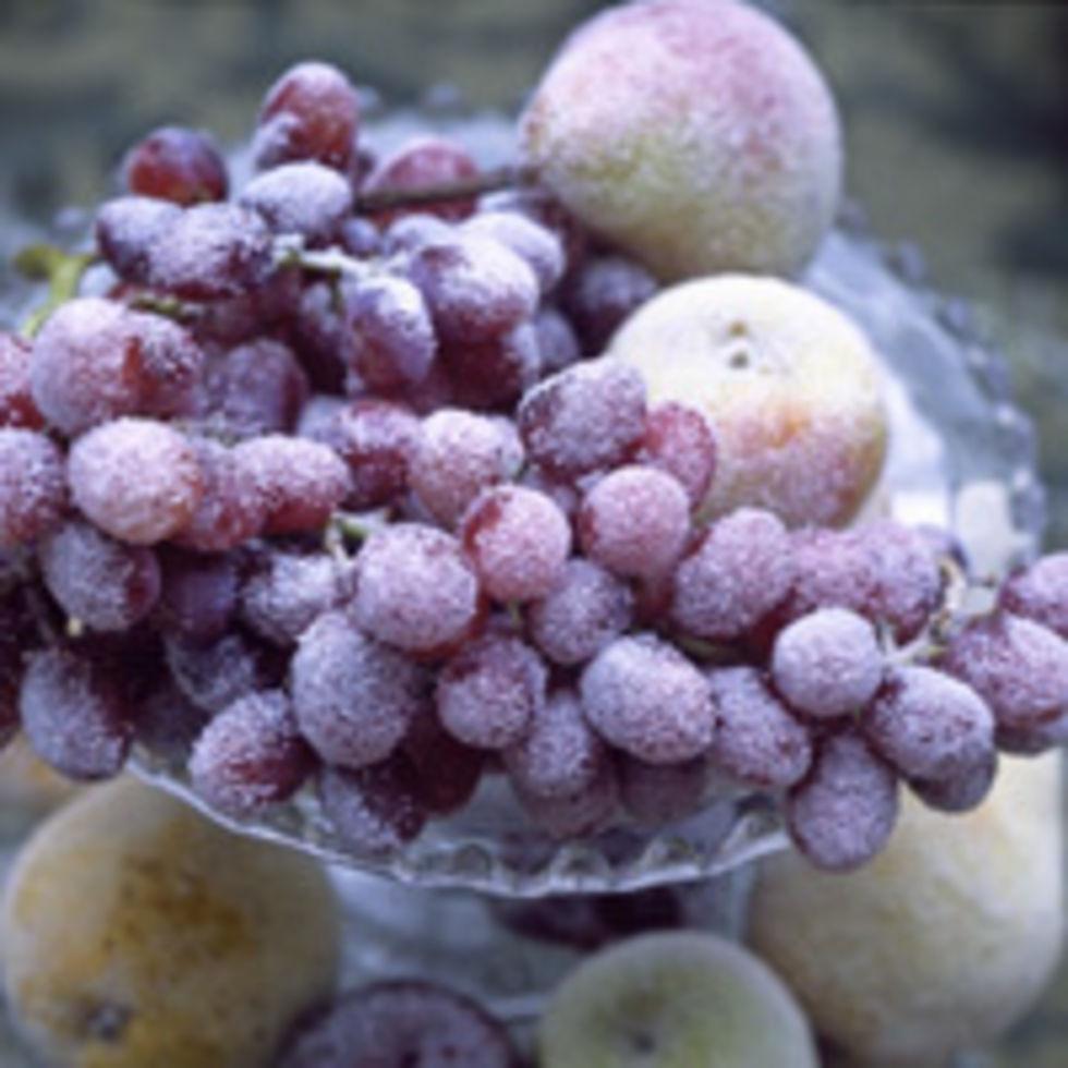 Dekorera med frostad frukt