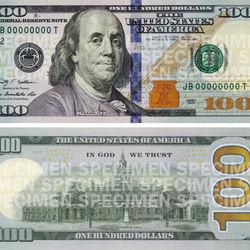 Nytt utseende till 100 dollarssedeln