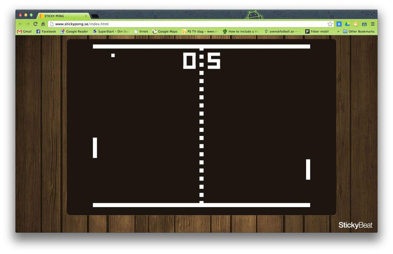 Spela Pong med webbläsare och mobil