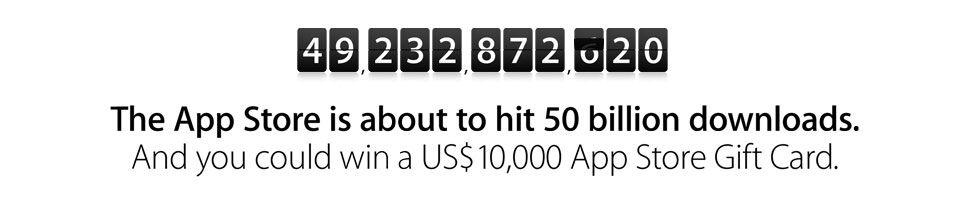 Snart 50 miljarder appar nedladdade från App Store