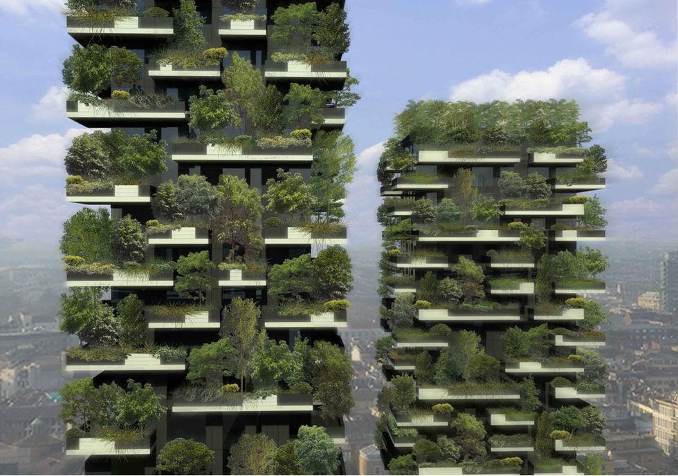 En skog i en skyskrapa i Milano