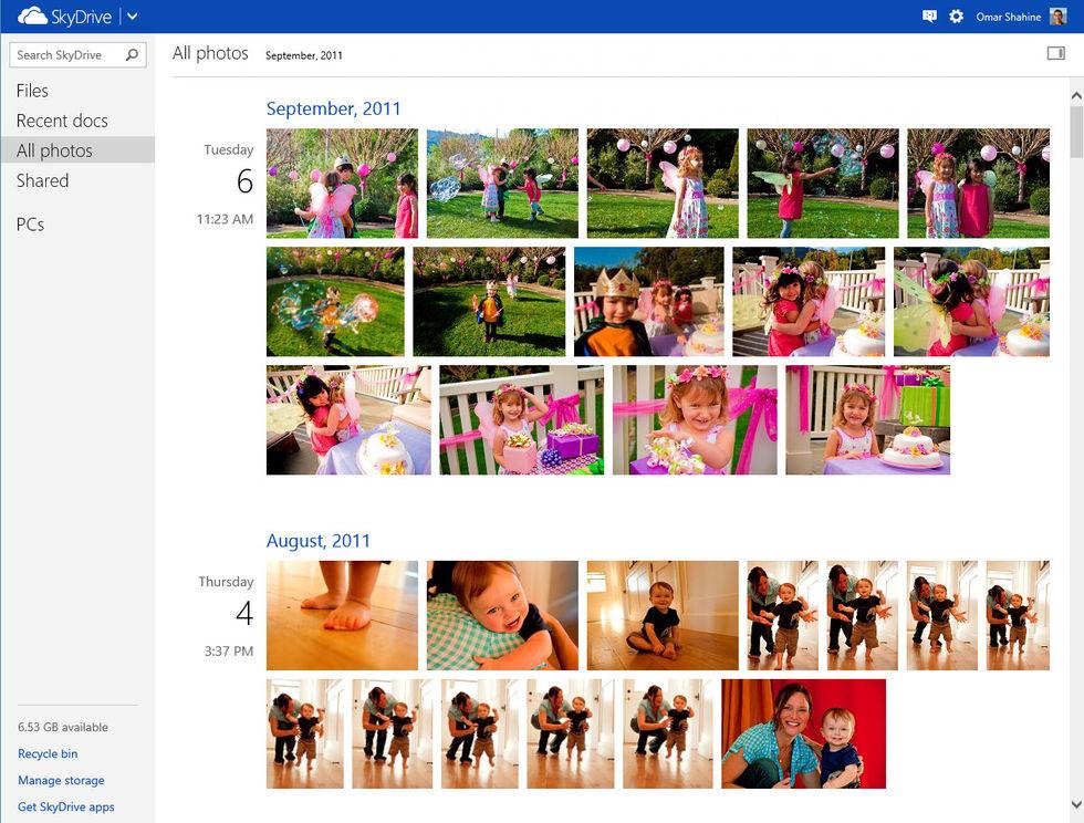 Microsoft SkyDrive får foto-timeline