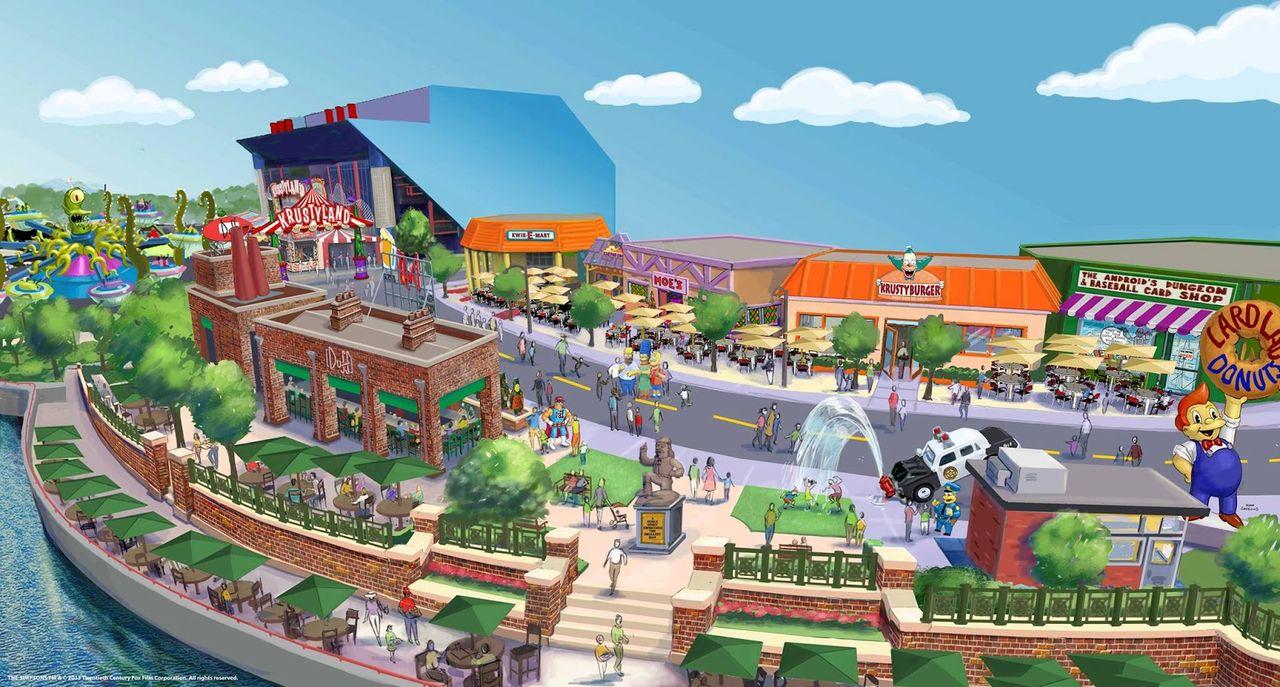 Nöjesfält med Simpsons-tema öppnar i USA