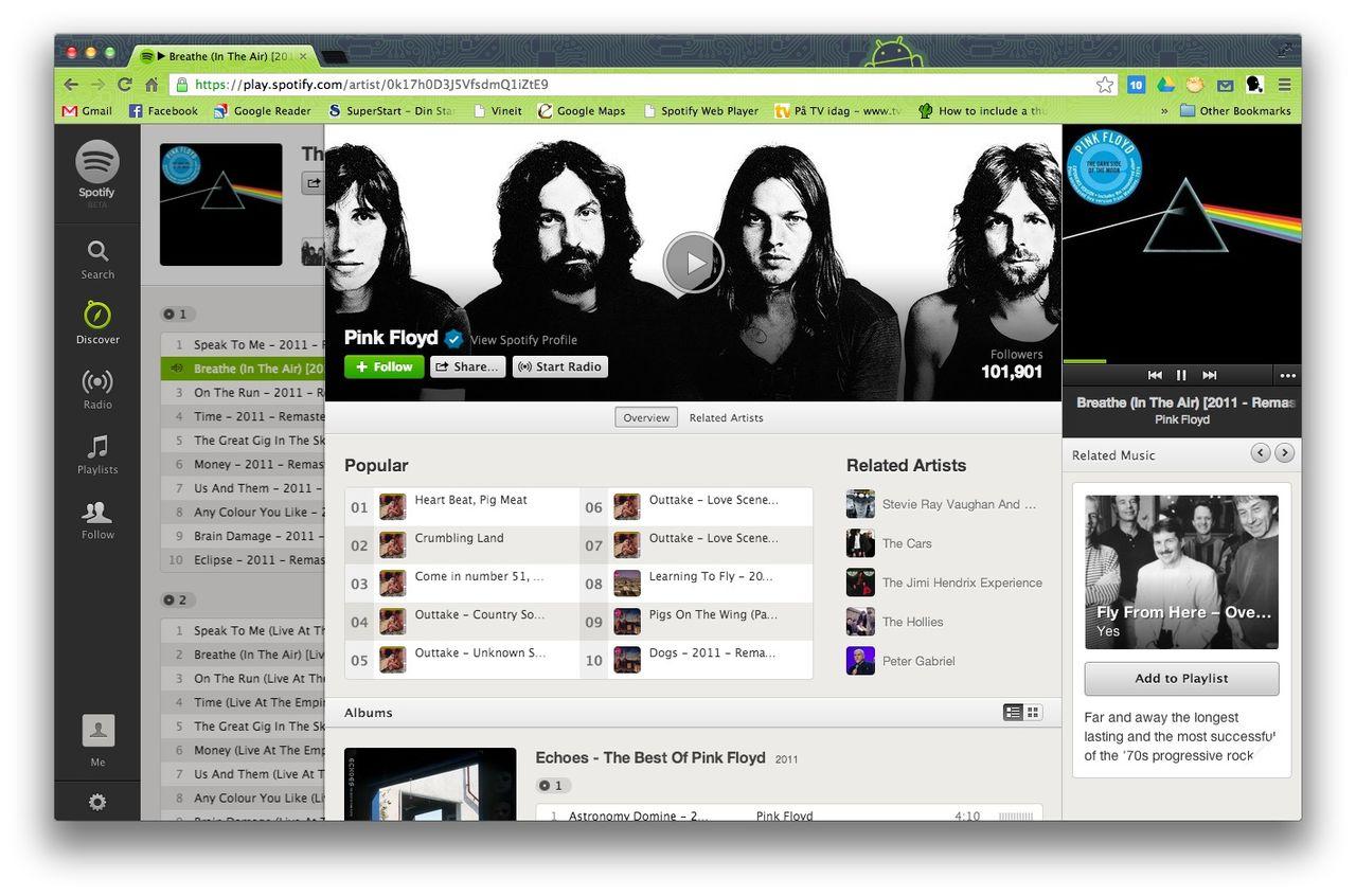 Nu finns Pink Floyd på Spotify