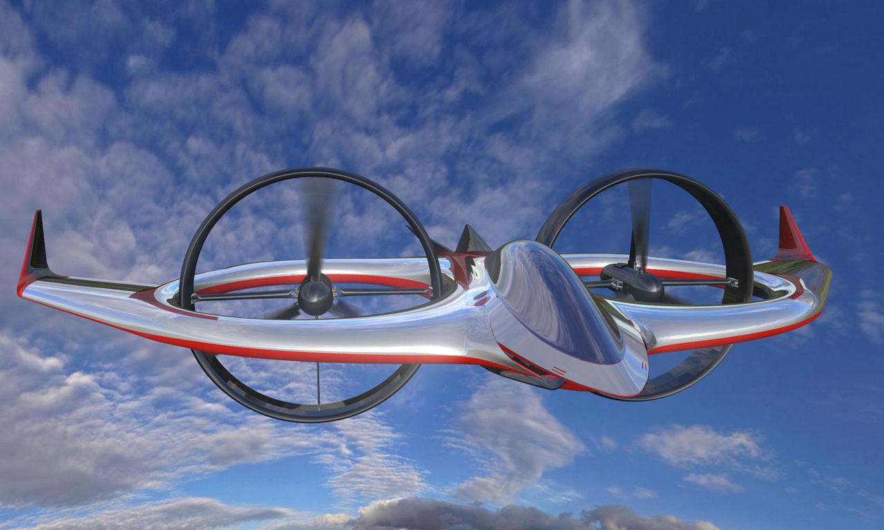 Bertone visar eldrivet helikopter-flygplan