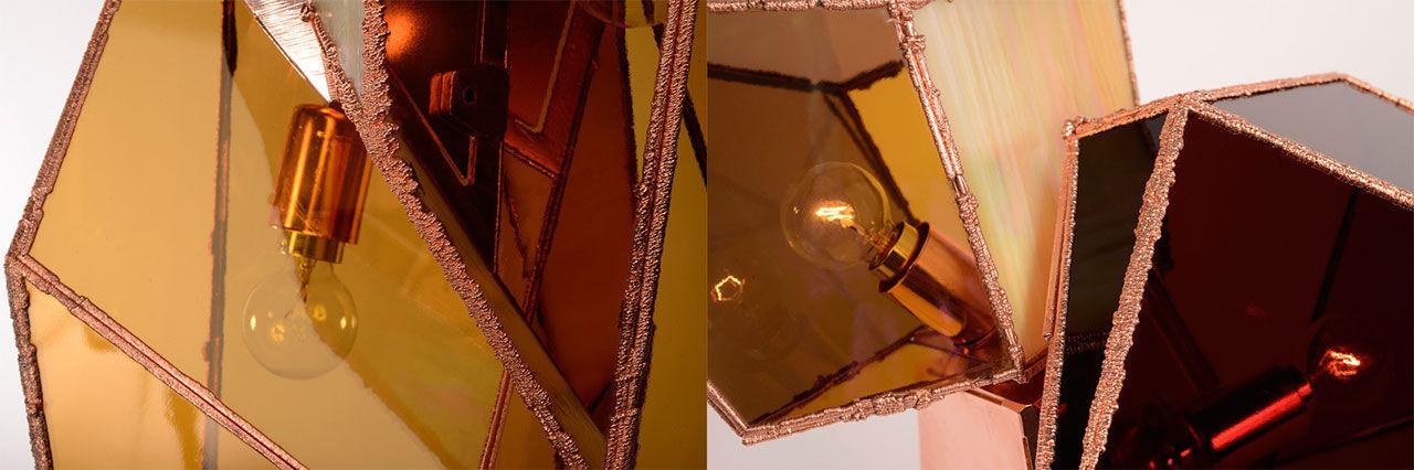 Lampor med kopparplätering