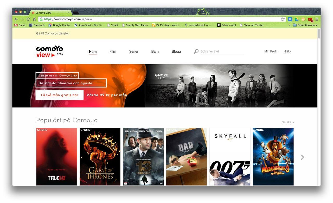 Telenors streamingtjänst Comoyo nu även med TV-serier