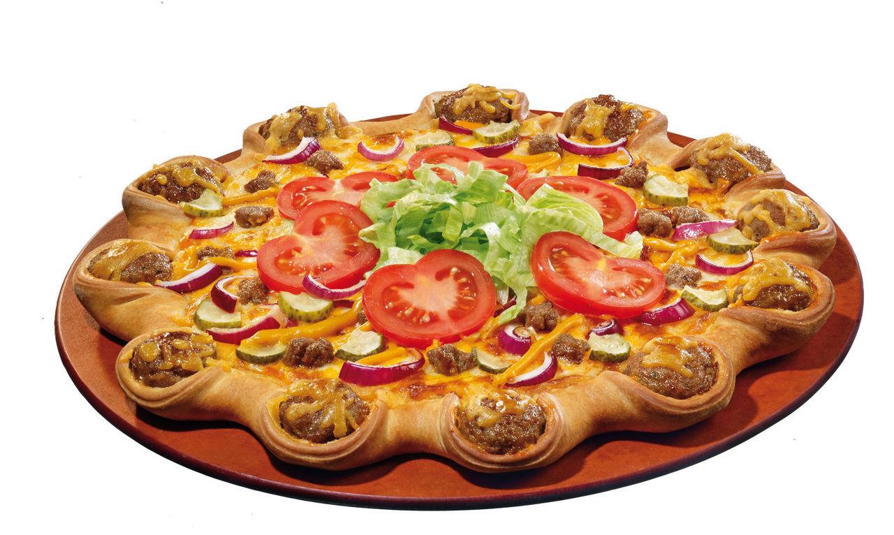 Hamburgar-pizza lanseras i Sverige