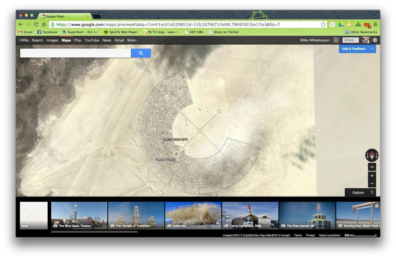 Burning Man på Google Maps
