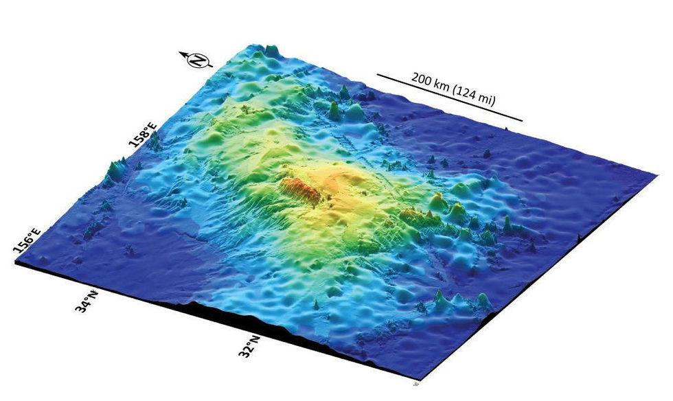 Världens största vulkan hittad i Stilla Havet