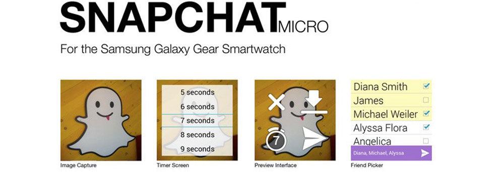Snapchat kommer till Galaxy Gear