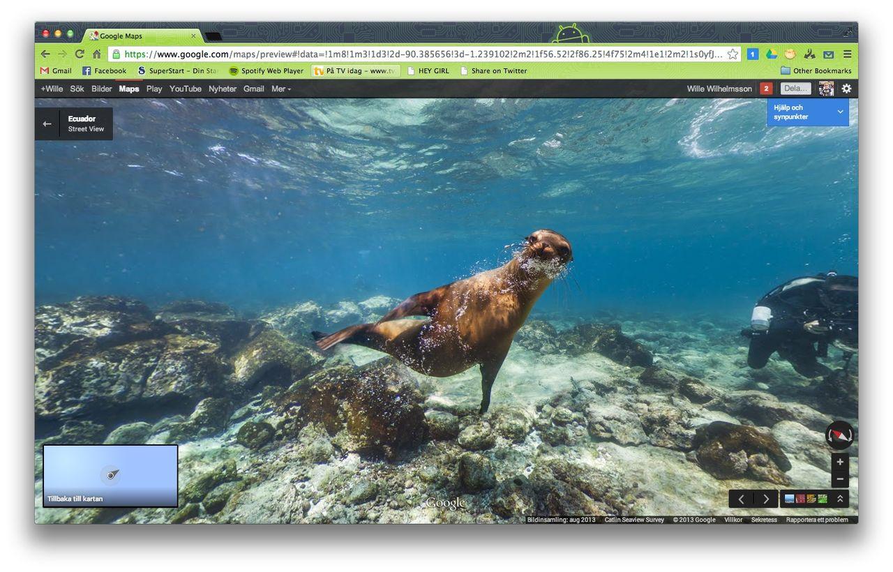 Google Streetview på Galapagos-öarna