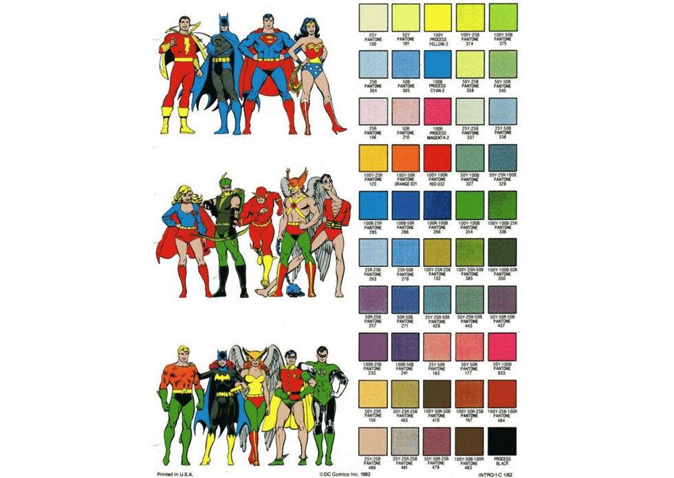 Här är superhjältarnas officiella färger
